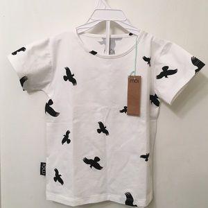 NWT Organic Cotton Shirt | Bird Print
